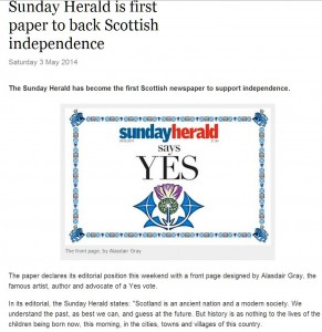 sunday herald goes native